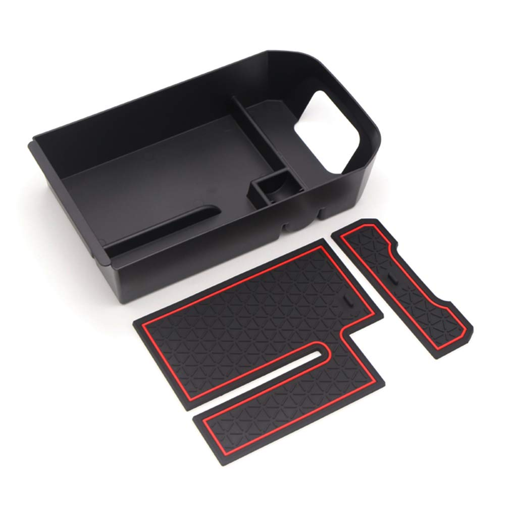 LFOTPP Armrest Center Console Organizer Tray Accessories Coin and Sunglasses Holder,Secondary Insert Storage Box for 2019 2020 RAV4 XA50 Red