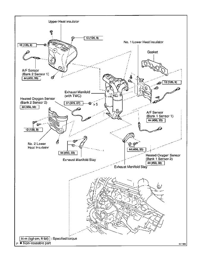 Toyota Camry O2 Sensor Bank 1 Sensor 1