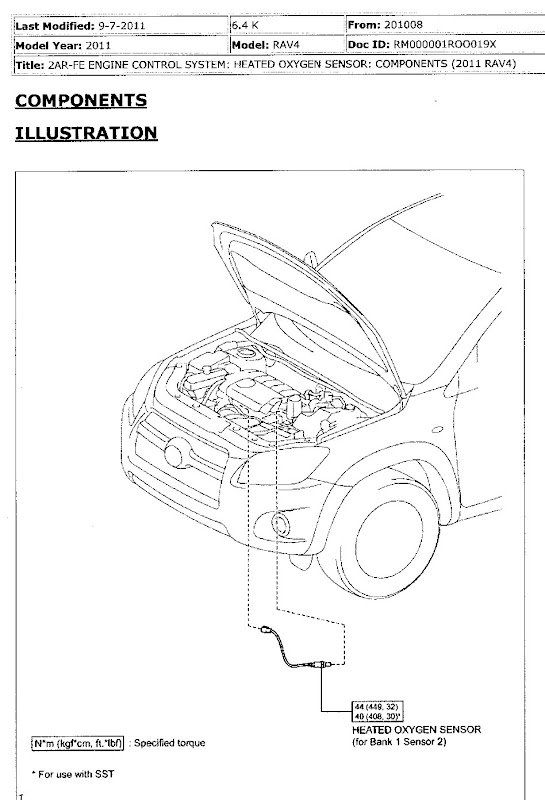 P0037: HO2S Heater Control Circuit Low, Bank 1, sensor 2  | Toyota