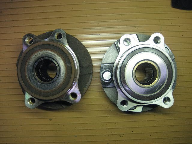 Notes on front hub assembly replacement 4WD V6   Toyota RAV4