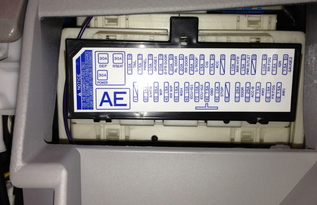 Toyota Rav4 Fuse Box Just Wiring Diagram