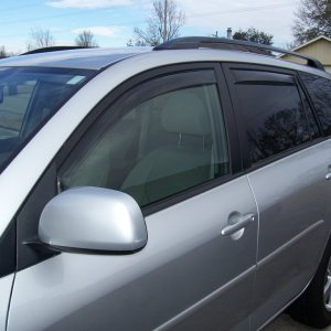 Weathertech side window visors--light tint driver's side.